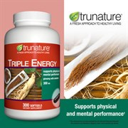 Trunature ® - Утроенный Женьшеневый Энергетик с Элеутерококком, 300 мг., 300 капсул