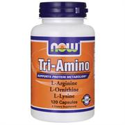 Три Аминокислоты, L-аргинин + L-лизин + L-орнитин, 120 капсул