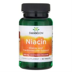 Ниацин, Витамин В-3, 500 мг. 90 таблеток