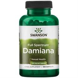 Дамиана, (секс-тоник) 510 мг 100 капсул - фото 7036