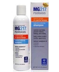 240 мл MG217® Лечебный Дёгтевый Шампунь от Псориаза, Перхоти и Себореи - фото 7056