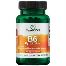 Витамин В6 / Пиридоксин, 100 мг 100 капсул - фото 7161