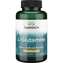 L-Глютамин (для мозга), 500 мг 100 капсул - фото 7180