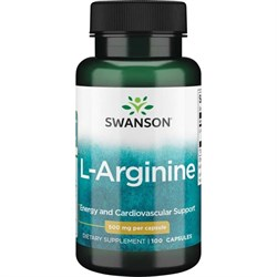 L-Аргинин, 500 мг 100 капсул - фото 7181