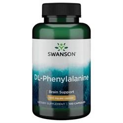 DL-Фенилаланин, (обезболивающее) 500 мг 100 капсул - фото 7184