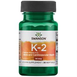 Натуральный Витамин К2, 50 мкг 30 капсул - фото 7237