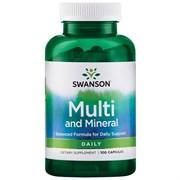 Комплекс Витаминов - Поливитамины с Минералами, 100 капсул