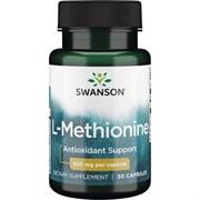 L-Метионин 100% чистоты (для печени), 500 мг 30 капсул